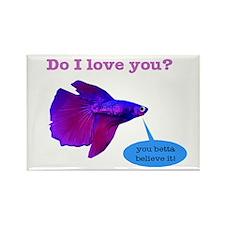 Betta Fish Rectangle Magnet (100 pack)