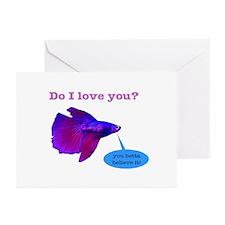 Betta Fish Greeting Cards (Pk of 20)