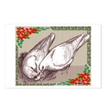 Nesting Pigeon Christmas Postcards (Package of 8)