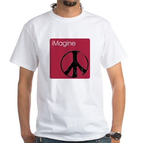 iMagine pink Men's White T-Shirt