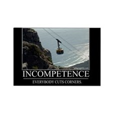 Incompetence Rectangle Magnet (100 pack)
