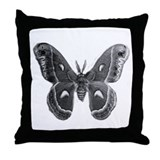cecropia moth Throw Pillow