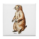 Prairie Dog Tile Coaster