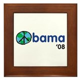Obama 08 Light Framed Tile