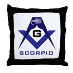 Masonic Scorpio Throw Pillow