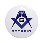 Masonic Scorpio Ornament (Round)