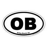 Ortley Beach, NJ OB Euro Style Oval Decal