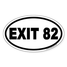 Exit 82 Euro Style Oval Decal