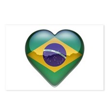 Brazil Heart Postcards (Package of 8)