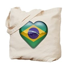 Brazil Heart Tote Bag