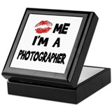 Kiss Me I'm A Photographer. Keepsake Box
