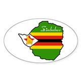 Cool Zimbabwe Oval Decal