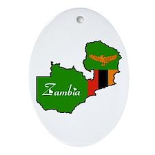 Cool Zambia Oval Ornament