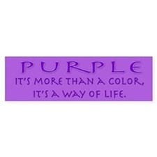 Purple Way Bumper Bumper Sticker