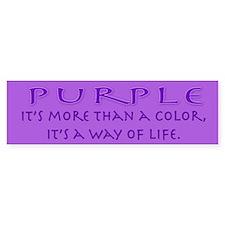 Purple Way Bumper Bumper Sticker