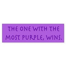 Purple Wins Bumper Bumper Sticker