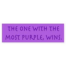 Purple Wins Bumper Bumper Sticker