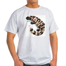 Gila Monster Lizard (Front) Ash Grey T-Shirt