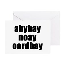 Pig latin pregnancy announcement Greeting Cards (P