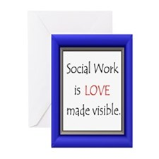 Social Work is Love Greeting Cards (Pk of 20)