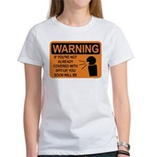 spit-up warning Tee