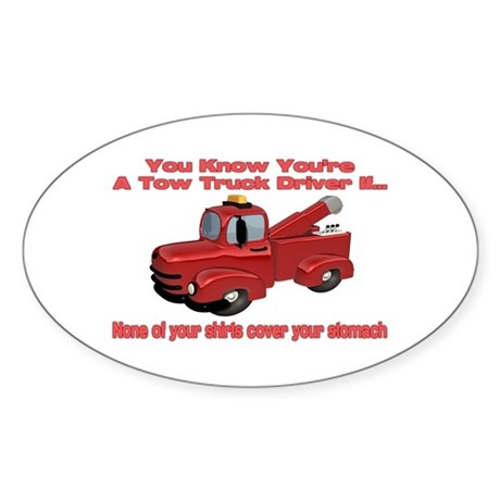 Tow Truck Tshirts and Gifts Oval Sticker