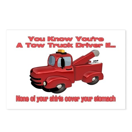 Tow Truck Tshirts and Gifts Postcards (Package of