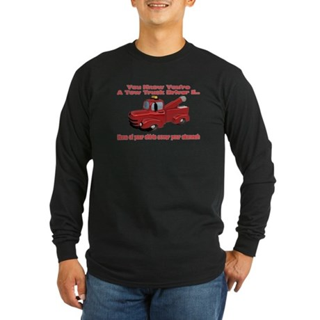 Tow Truck Tshirts and Gifts Long Sleeve Dark T-Shi