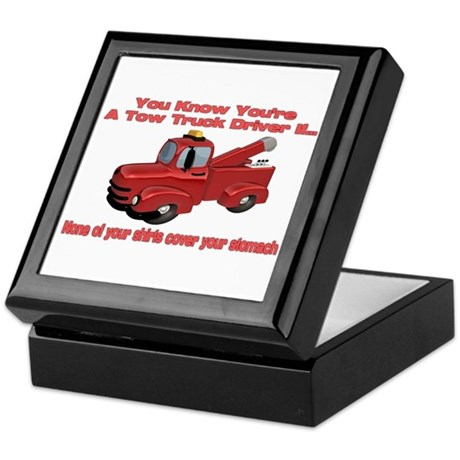 Tow Truck Tshirts and Gifts Keepsake Box