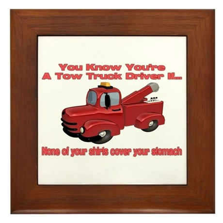 Tow Truck Tshirts and Gifts Framed Tile