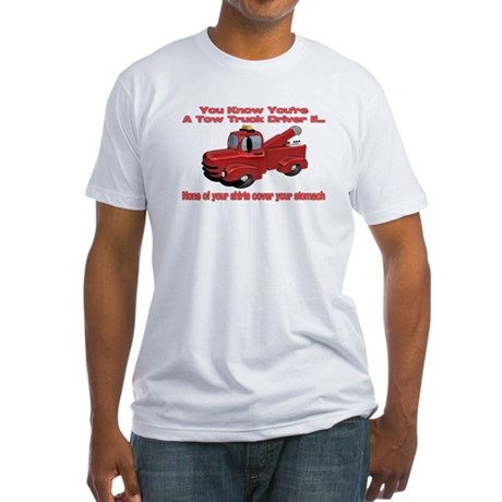 Tow Truck Tshirts and Gifts Fitted T-Shirt