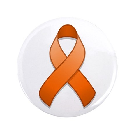 "Orange Awareness Ribbon 3.5"" Button"
