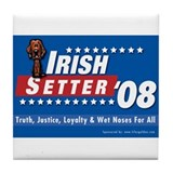 Irish Setter for President Tile Coaster