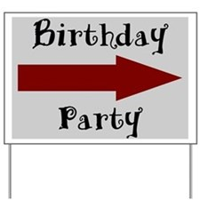 Birthday Party Arrow (grey) Yard Sign