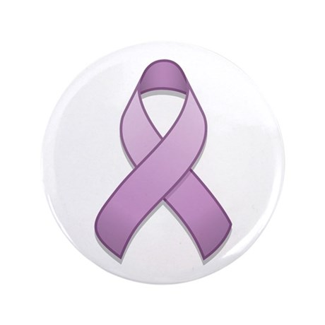 "Lavender Awareness Ribbon 3.5"" Button"