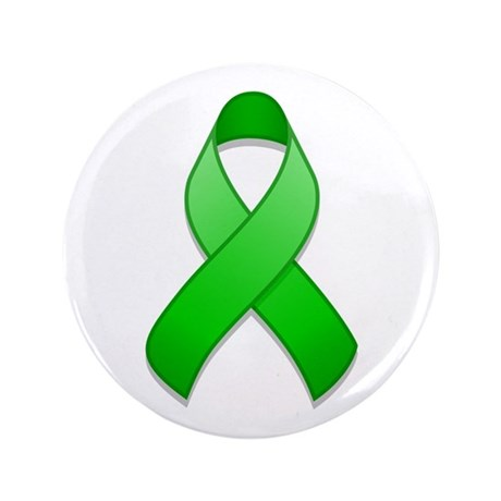 "Green Awareness Ribbon 3.5"" Button"