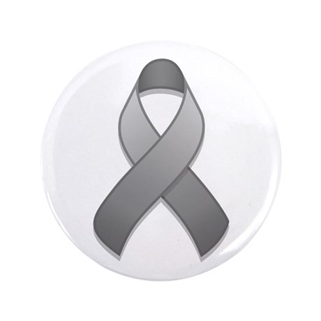 "Gray Awareness Ribbon 3.5"" Button"