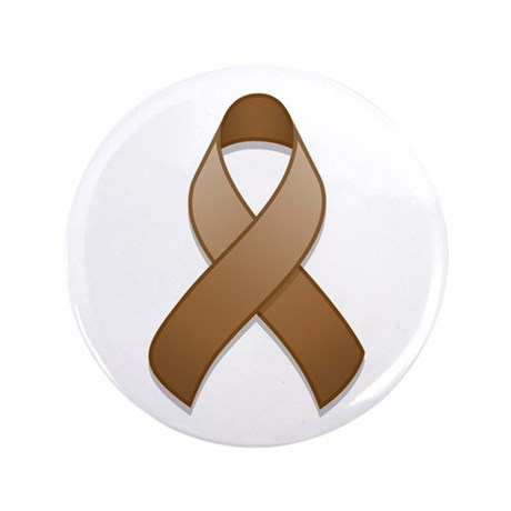 "Brown Awareness Ribbon 3.5"" Button"