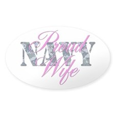 Proud Navy Wife NWU Oval Decal