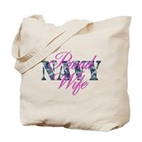 Proud Navy Wife NWU Tote Bag