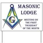 Lodge Meeting Day Notice Yard Sign