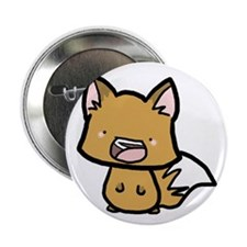 """Happy Foxy 2.25"""" Button (10 pack)"""