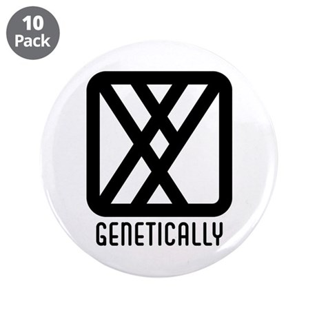 "Genetically : Male 3.5"" Button (10 pack)"