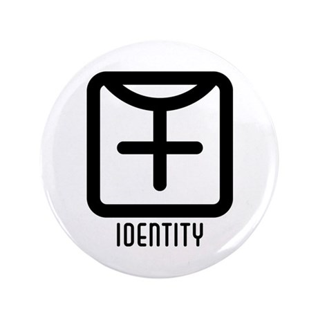 "Identity : Female 3.5"" Button"