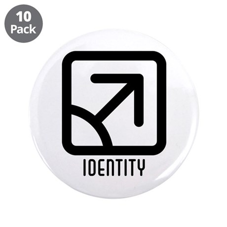"Identity : Male 3.5"" Button (10 pack)"