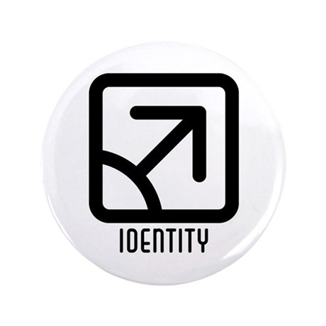 Identity : Male 3.5&quot; Button