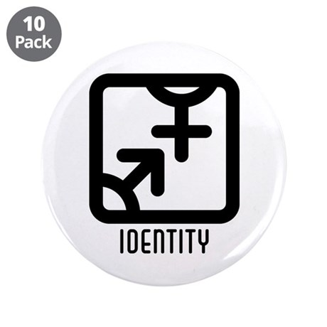 "Identity : Both 3.5"" Button (10 pack)"