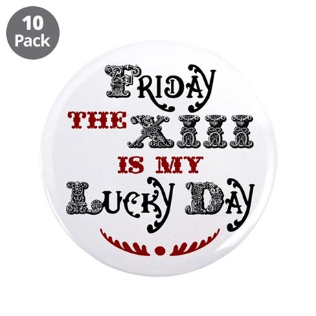 "Friday the 13th 3.5"" Button (10 pack)"
