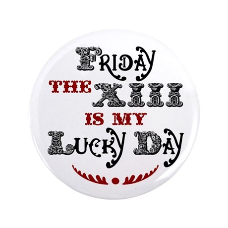 "Friday the 13th 3.5"" Button"
