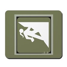 Climbing Girl Icon Mousepad
